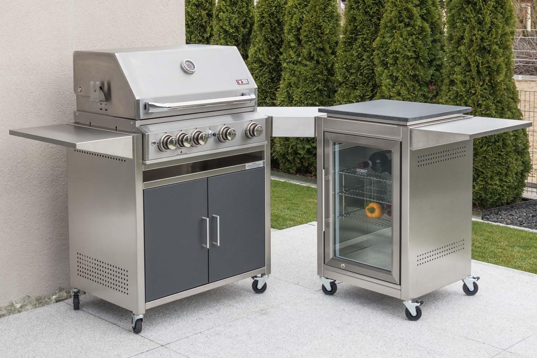 Modulare Outdoorküche kaufen / Edelstahl Grillküche von Heibi