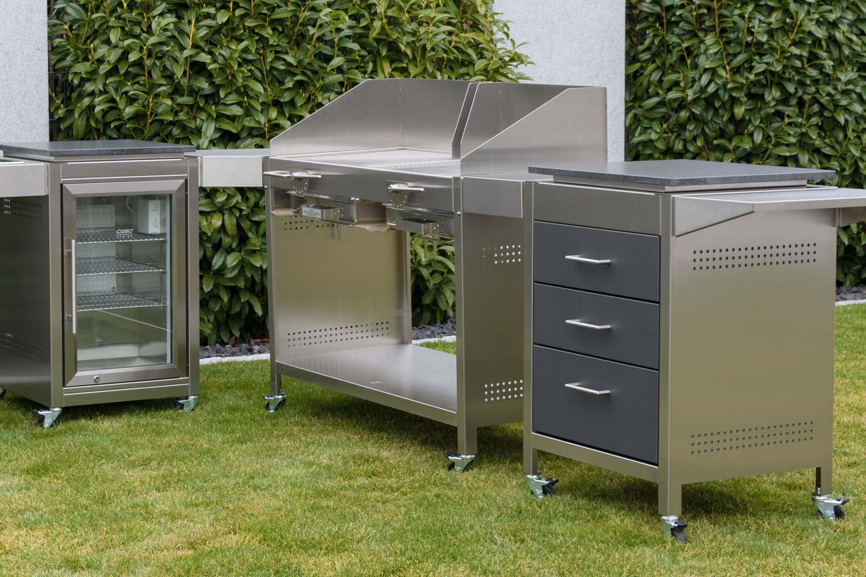 Modulare Outdoorkuche Kaufen Edelstahl Grillkuche Von Heibi