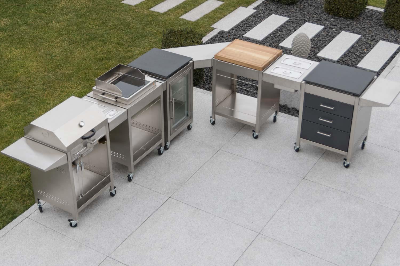 Outdoor Küche Edelstahl Mit Kühlschrank : Die modulare outdoorküche u edelstahl produkte made in germany